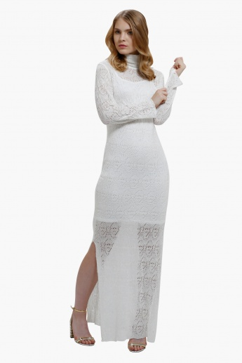 Knitted Long Sleeves Maxi Dress