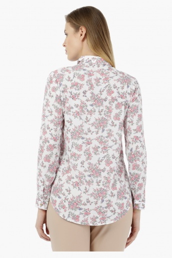 Basic Floral Print Full-sleeved Shirt
