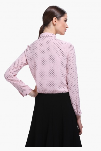 Polka Dot Long Sleeves Formal Shirt