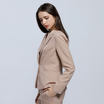 Full Sleeves Blazer with Button Closure