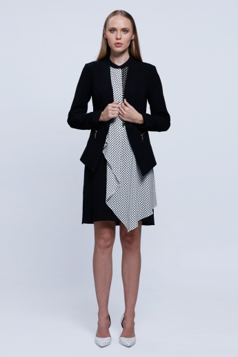 Long Sleeves Jacket With Welt Pockets