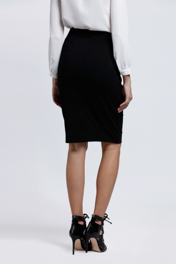 Pencil Skirt with Elasticised Waistband