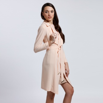 Long Sleeves Jacket with Tie Up