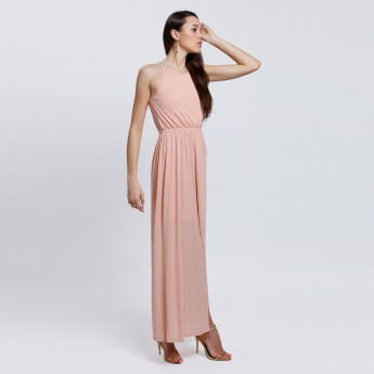 Halter Neck Dress with Key Hole Closure