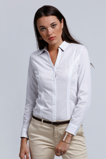 Full Sleeves Shirt with Complete Placket on the Front