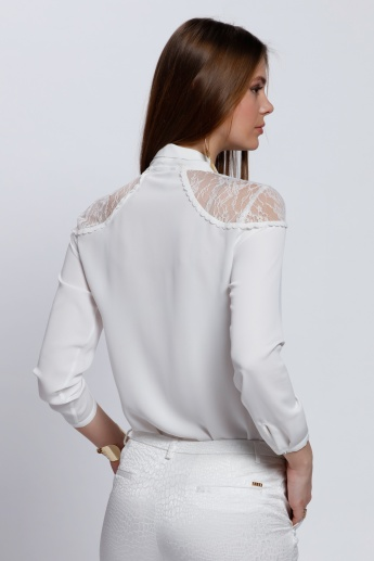 Long Sleeves Top with Complete Placket