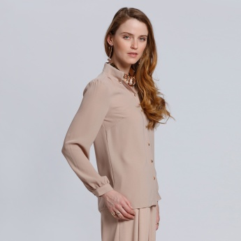 Long Sleeves Shirt with Complete Button Placket