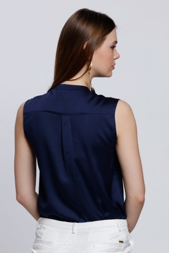 Sleeveless Top with Concealed Placket