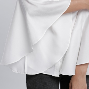 Flare Sleeves Shirt with Concealed Placket