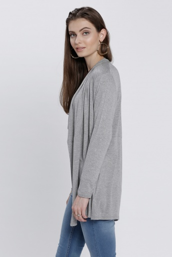Open-Front Shrug with Long Sleeves