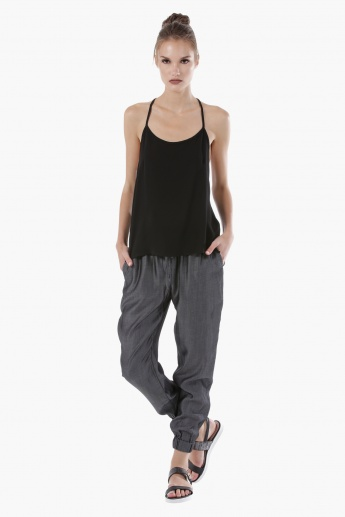 Jog Pants with Elastic Waistband and Cuffs