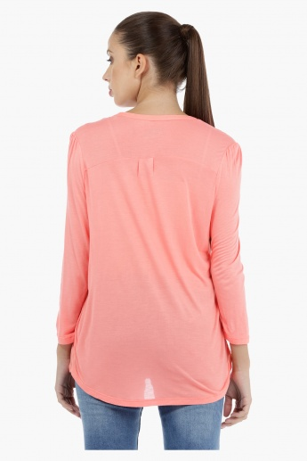 Knit Top with Long Sleeves