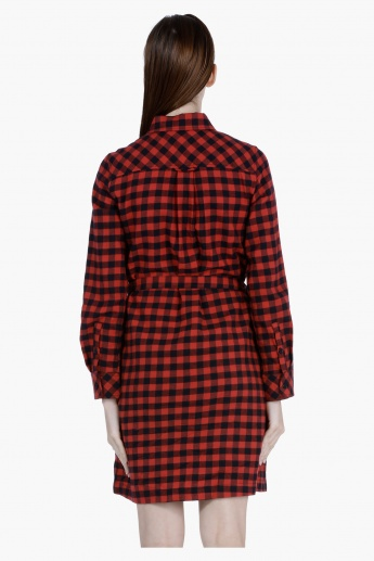 Chequered Tunic with Long Sleeves
