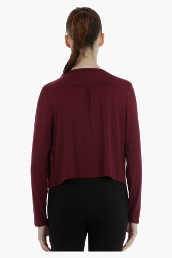 Long Sleeves Casual Bolero with Open Front