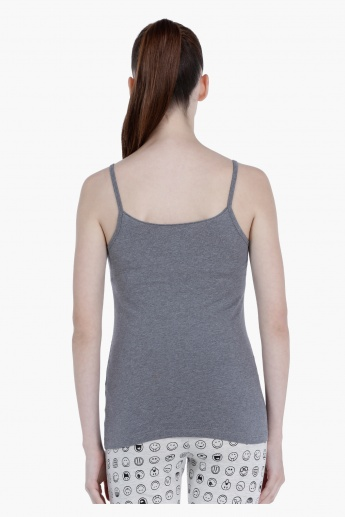 Basic Spaghetti Top with Round Neck