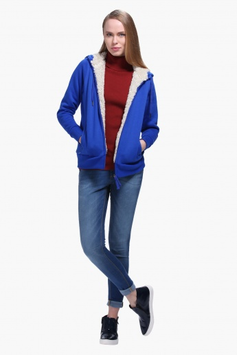 Solid Colour Hooded Jacket