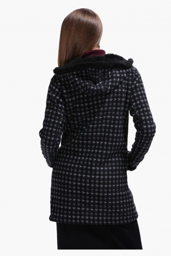 Checkered Jacket with Hood