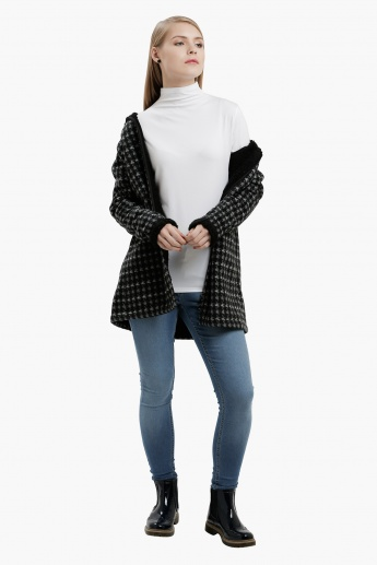 Long Sleeves Top with Mock Turtleneck