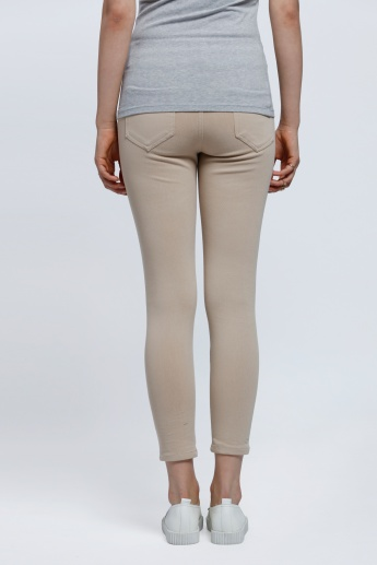 Crop Leggings with Elasticised Waistband
