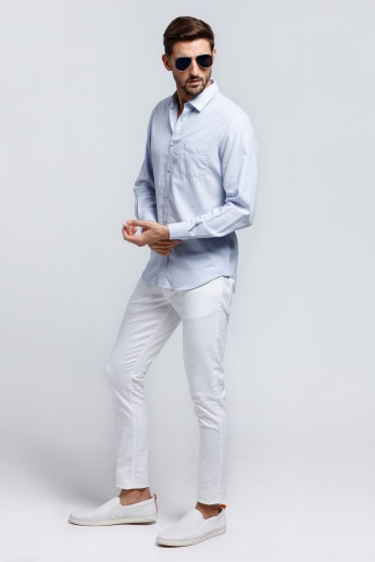 Long Sleeves Shirt with Front Pocket