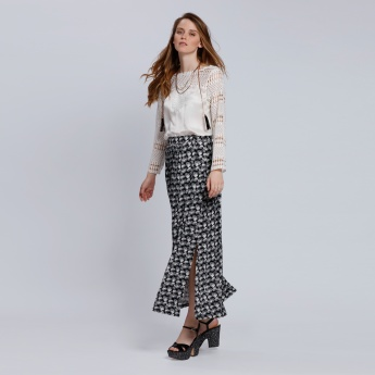 Printed Maxi Skirt with Elasticised Waistband