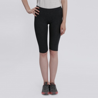 Knee Length Leggings with Elasticised Waistband