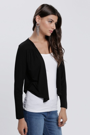 Crop Shrug with Long Sleeves