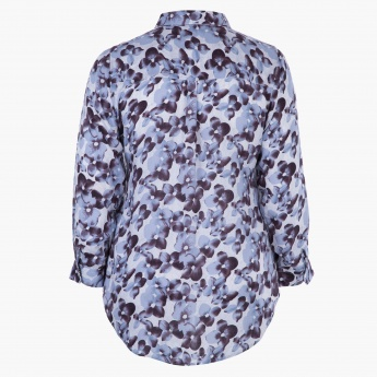 Plus Size Printed Modal Shirt with All Over Print