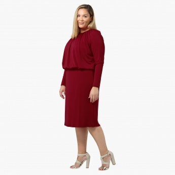 Plus Size Full-sleeved Blouson Tunic