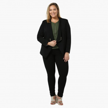 Plus Size Full-sleeved Structured Blazer