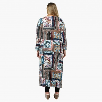 Plus Size Printed Longline Tunic
