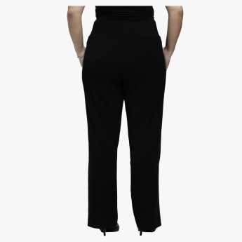 Plus Size Straight Leg Pants in Slim Fit