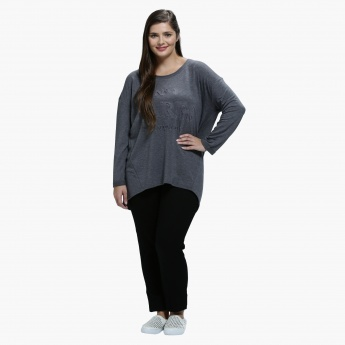 Plus Size T-Shirt with Round Neck