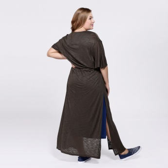Long Tie-Up Shrug with Butterfly Sleeves