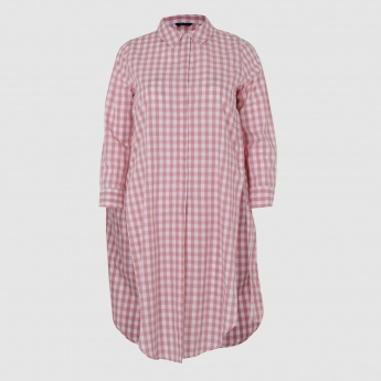 Chequered Long Sleeves Tunic in Regular Fit