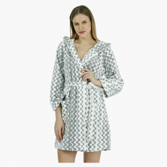 Printed Hooded Robe