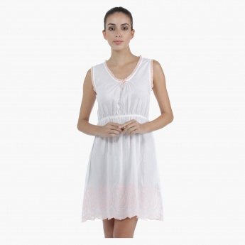 Short Cotton Nightdress