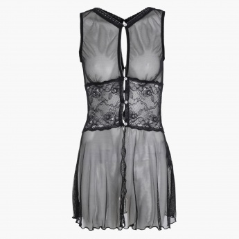 Babydoll with Lace Detail and Spaghetti Straps