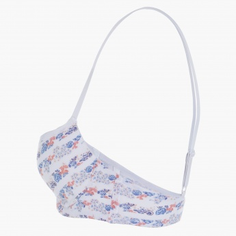 Printed Bra with Adjustable Straps