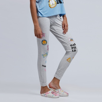 Printed Pyjama Pants with Snug Fitted Cuffs