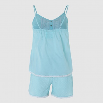 Speghatti Straps Top and Shorts Set