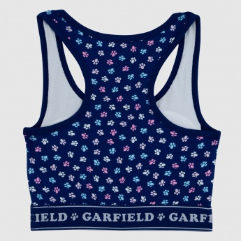 Garfield Printed Sports Bra with Racer Back