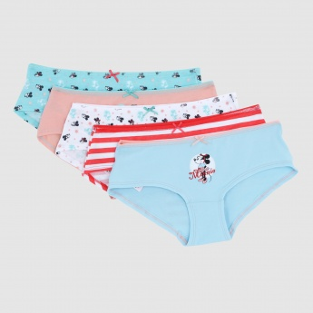 Minnie Mouse Printed Briefs - Set of 5