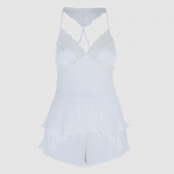 Lace Top and Shorts Nightwear Set