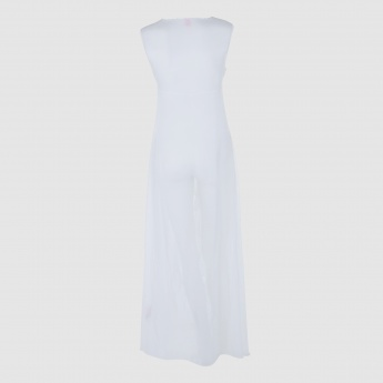 Sleeveless Nightdress with Button Detail