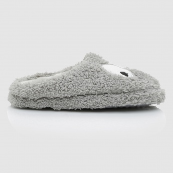 Plush Slip-On Bathroom Slippers
