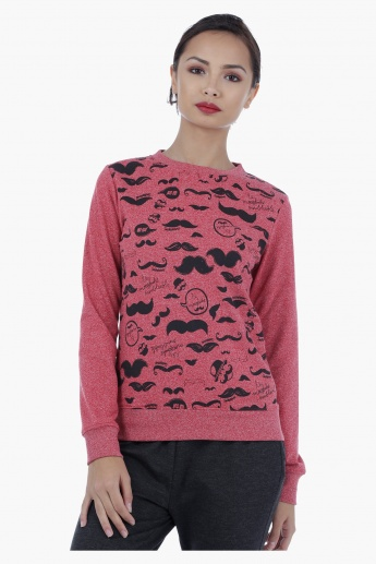 Smiley World Printed Sweatshirt