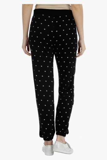 Smiley World Star Print Jog Pants