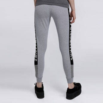 Smiley World Printed Jog Pants with Elasticised Cuffs