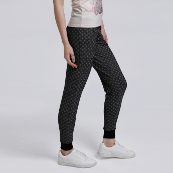 Barbie Printed Full Length Jog Pants with Elasticised Cuffs